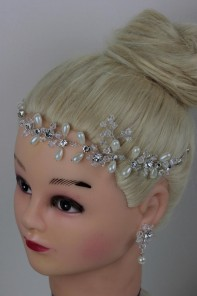 Handmade Bridal Hair with Bobby with Matching Earring
