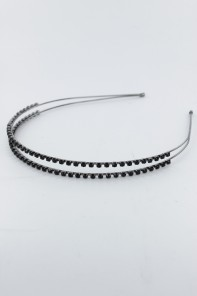 Two-line Rhinestone headband