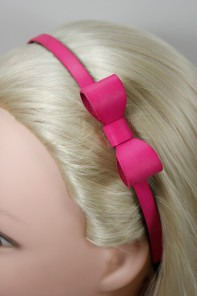Leather 3D ribbon headband
