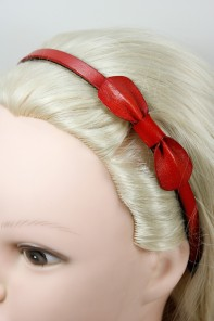 Leather flat ribbon headband