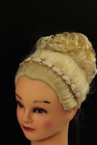 Chain stretch elastic headband-TAN