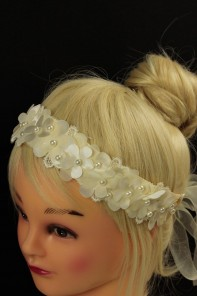 Daisy press flwoer ribbon headband