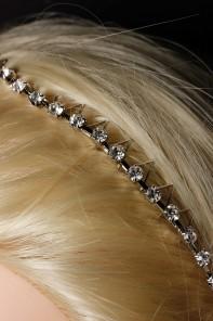 Comb rhinestone headband