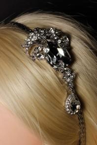 Limtied Custom Crystal Cutting Bridal Dangling Headband