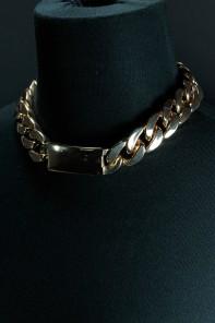 Square chain fashion necklace