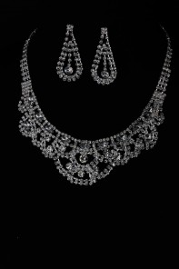 Royal line wedding necklace set