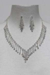 Wedding Rhinestock Necklace Set