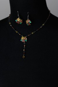 Anna Style Handpainting Necklace Set