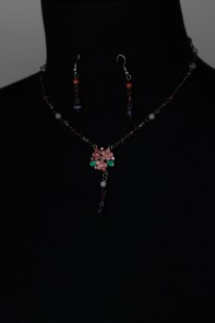 Annasuy style Handpainting Necklace Set
