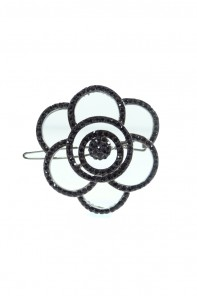 round rose hair pin