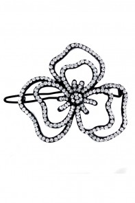 3-leave flower hair pin