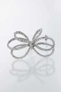 double ribbon hair pin