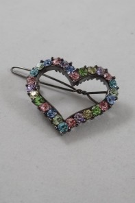 Mini heart hair pin