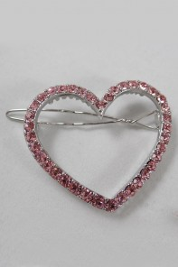 Large heart hair pin