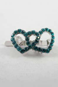 Double heart magnetic hair pin