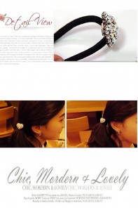 1.1 Heart ponytail jewelry