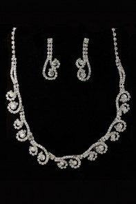 PROM RHINESTONE NECKLACE SET