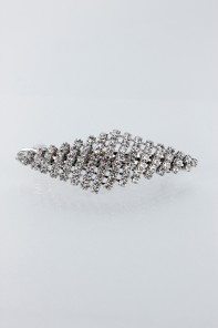 Diamond rhinestone hair barrette