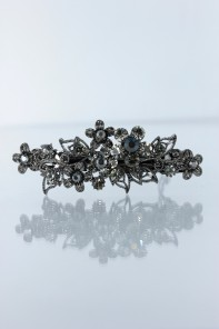 Small smoggy flower prom barrette jewelry