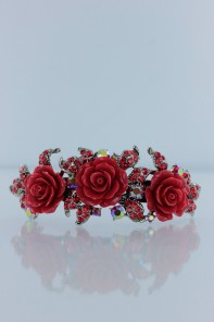 Versaille rose hair barrettey jewelry