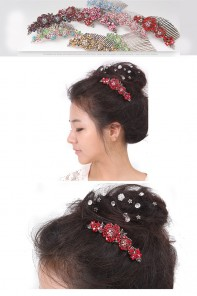 Rosy Wedding Hair Accessories