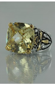 CZ-RS711 Canary Antique CZ ring