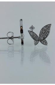 CZ-E266 Elegancy buterfly CZ Earring