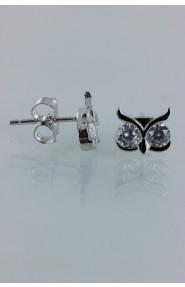 CZ-E269 Owl CZ Earring