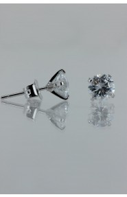 CZ-E501 6MM AAA Quality one point up CZ Earring